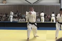 Démonstration du 02/06/2018 à Tossiat, kihon shotokai : attaque gyaku tsuki